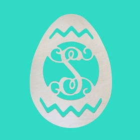 MDF Easter Egg Monogram