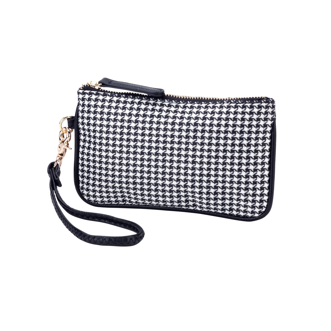 Houndstooth Mini Wristlet