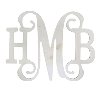 Classic Vine Wood Monogram (indoor or outdoor 1/2
