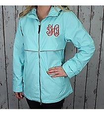 Monogrammed Rain Jacket (Unisex) Reflective Waterproof Monogram Rain Coat