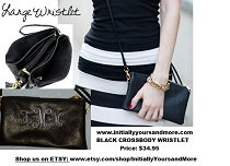 Monogram Crossbody Wristlet Wallet 5 Compartments Fashion Bag