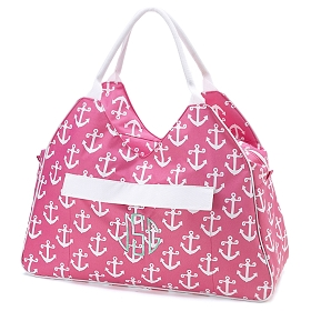 Pink Anchor Beach Bag