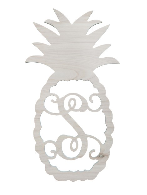 Single Initial Birch Pineapple