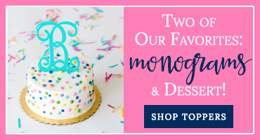 Monogrammed Cake Toppers